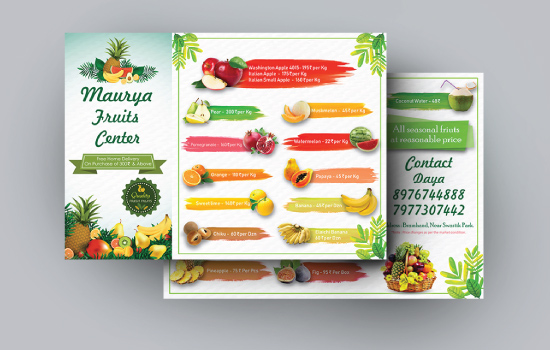 maurya fruits center creative